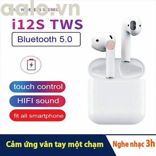 Tai Nghe Bluetooth mini I12 TWS Công nghệ Cảm Biến Vân Tay - aalo.vn