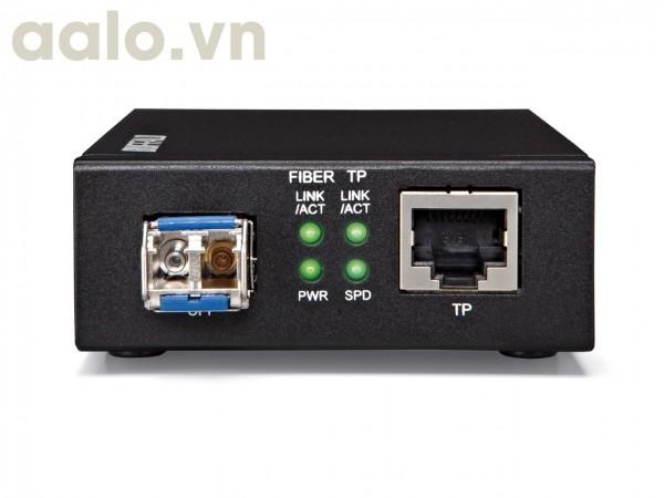 Bộ truyền LAN qua cáp QUANG điện HTB 4100A-B GIGA 1000 xa 25Km dùng 01 sợi QUANG