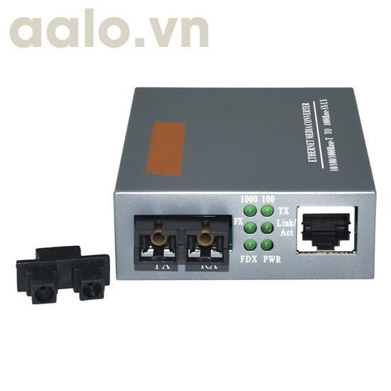 Bộ truyền LAN qua cáp QUANG điện HTB GS-03 GIGA 1000 xa 100Km dùng 02 sợi QUANG