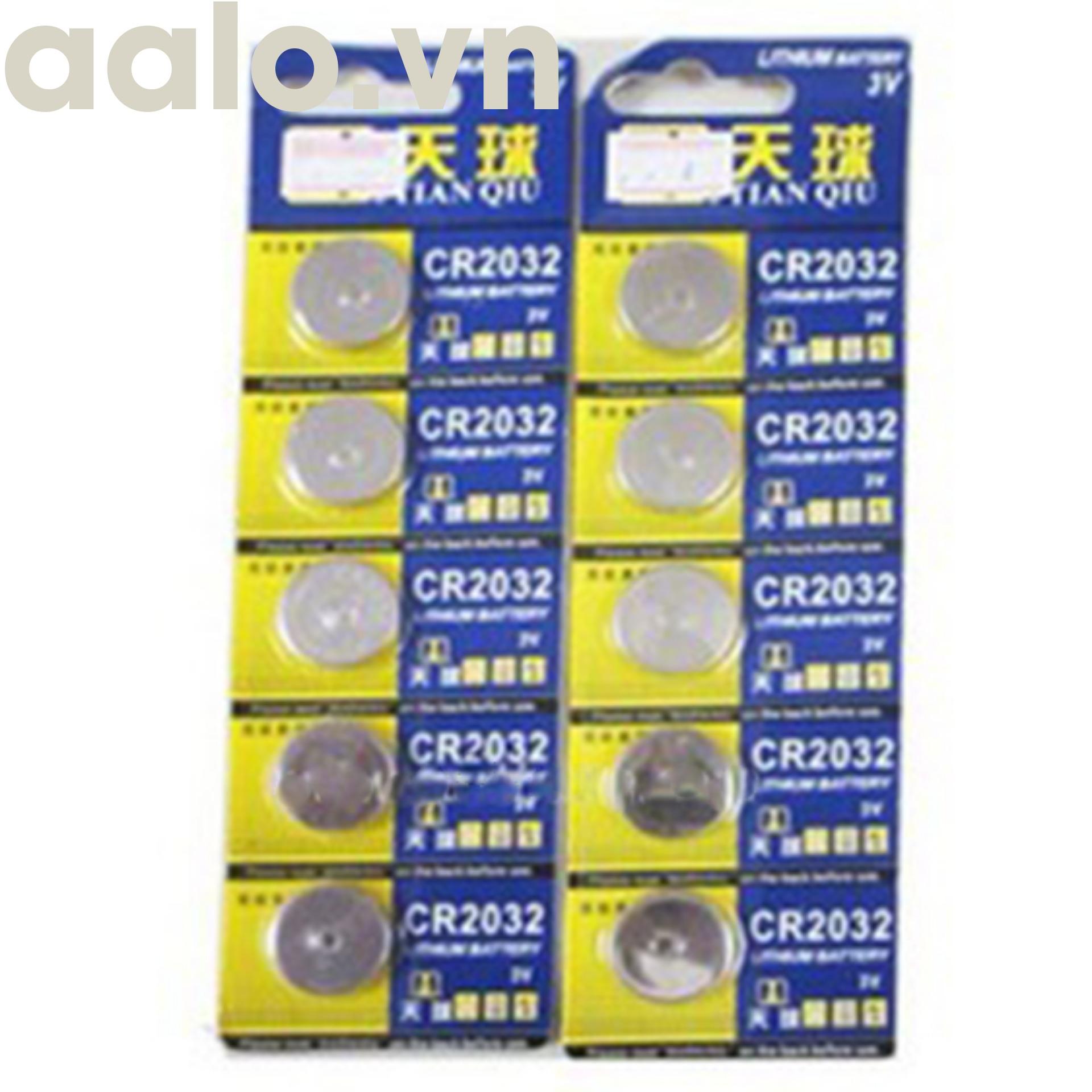 Pin CMOS CR2032 Vỉ 5 Viên - aalo.vn