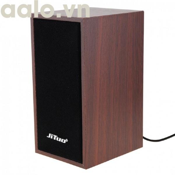 Loa Vi Tính JT-2801 Vỏ Gỗ Chân Cắm USB2.0 (Âm Thanh Hay) - aalo.vn