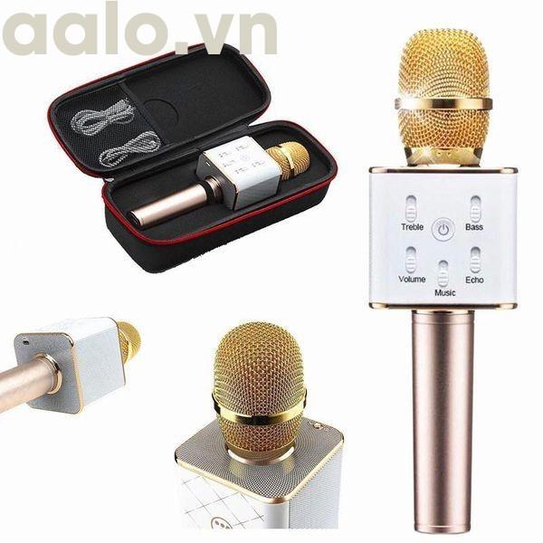 Micro Karaoke Bluetooth Q7 Âm Thanh Hay - aalo.vn