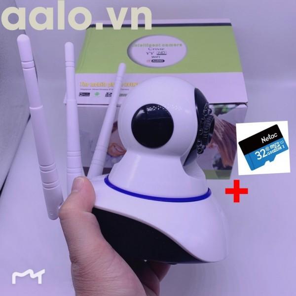 Combo camera 3 râu dùng phần mềm yousee tặng thẻ nhớ 32GB - aalo.vn