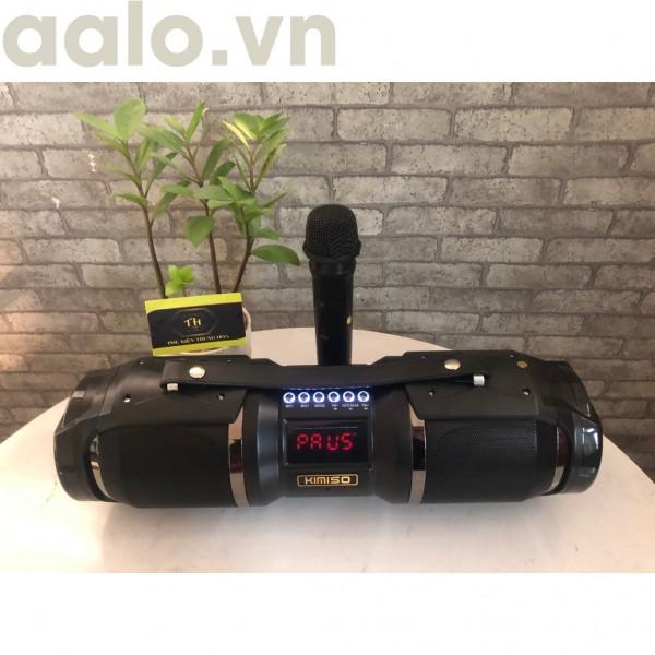 Loa Bluetooth karaoke xách tay di động KIMISO T1S - Loa hát karaoke đa năng (tặng kèm 1 micro không dây) - aalo.vn