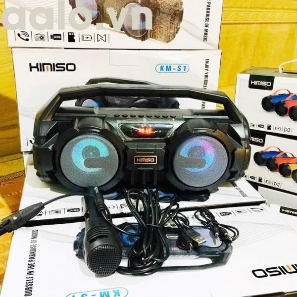 Loa Bluetooth Karaoke Xách Tay KM-S1 Tặng Kèm 1 Mic Hát Có Dây, Âm Bass Cực Hay, Đèn Led Sống Động + Bảo hành 6 tháng - aalo.vn