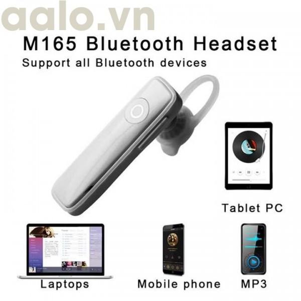 Tai Nghe Bluetooth Thông Minh Tích Hợp Mic M165 Thu Âm Và Truyền Tải Âm Thanh Tốt - aalo.vn