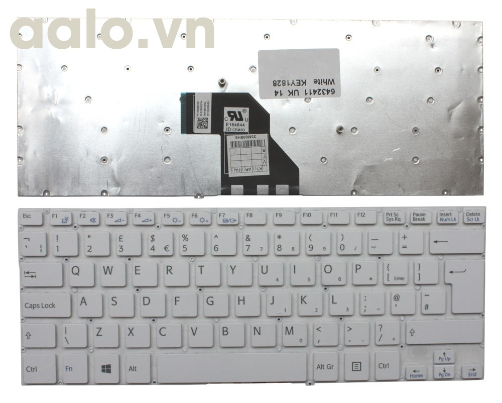 Bàn phím laptop Sony Sony VAIO SVF14N2APXB White Windows 8 UK - keyboard Sony
