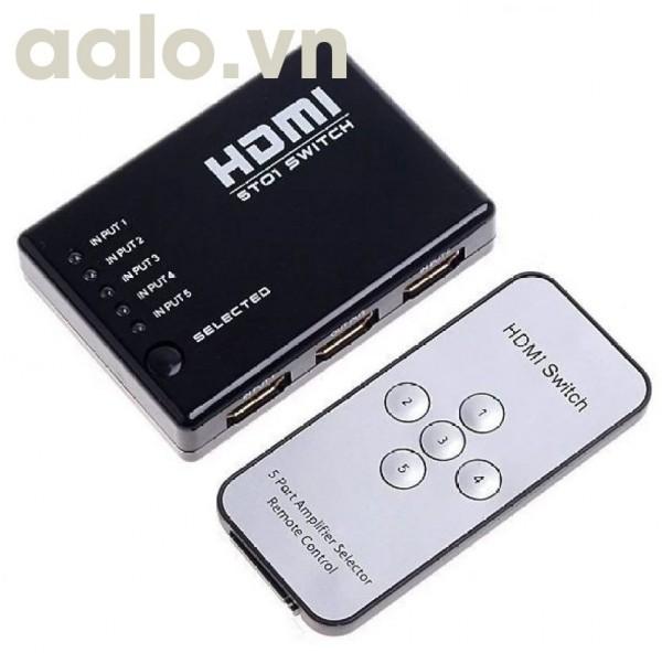 Bộ GỘP HDMI 5 vào 1 ra màn hình ( Có điều khiển )