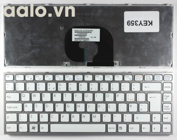 Bàn phím laptop Sony Sony Vaio VPC-Y21M1R/L Silver Frame White - keyboard Sony