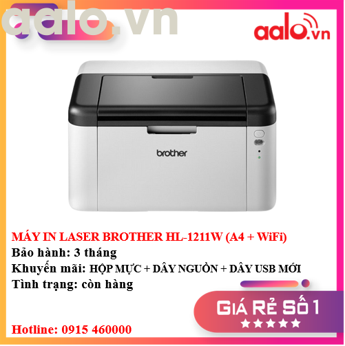 MÁY IN LASER BROTHER HL-1211W (A4 + WiFi) - AALO.VN