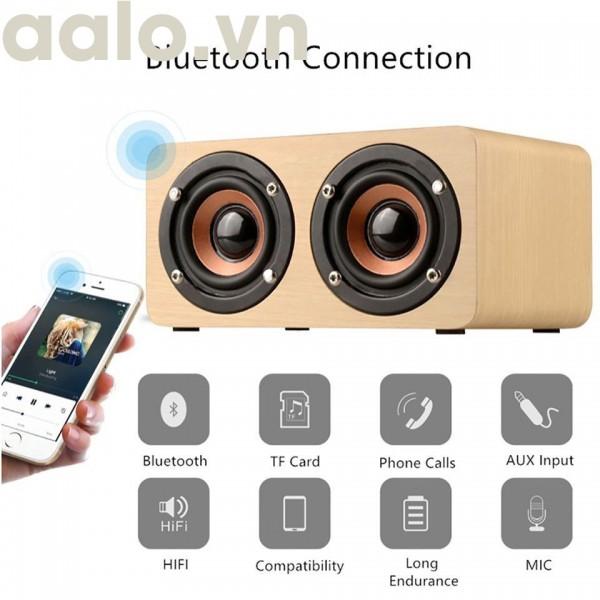 Loa Gỗ Bluetooth HIFI Super Bass Stereo speaker FT - 4002 ( hỗ trợ thẻ nhớ, F/M) - aalo.vn