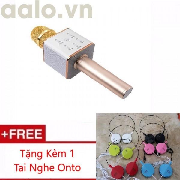 Micro Karaoke tích hợp Loa Bluetooth Q7 Tặng Kèm Tai Nghe Onto - aalo.vn