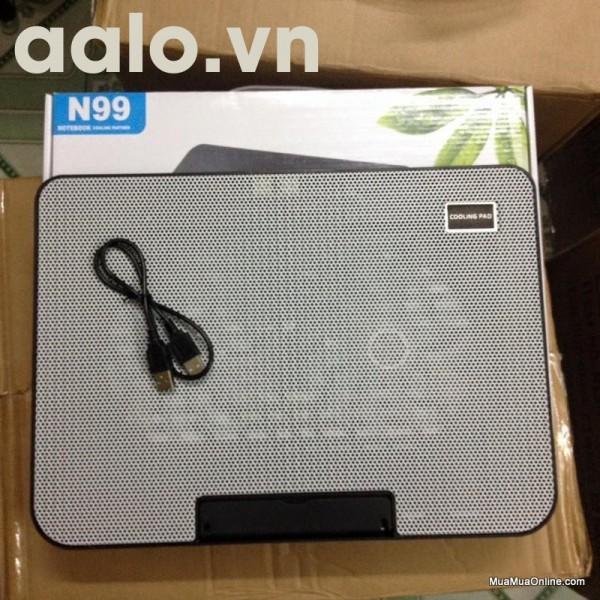 Đế tản nhiệt laptop N128 ( 2 fan nhỏ )