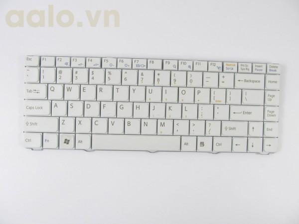 Bàn phím laptop Sony Vaio  VGN-NR VGN-NS V072078AS2 53010BM03-203-G Laptop Keyboard US White- keyboard Sony