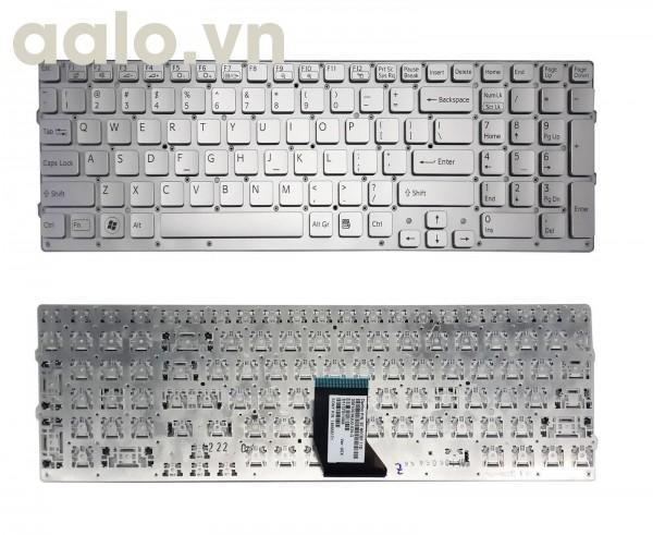 Bàn phím laptop Sony VaioVPC-CB17 VPCCB17 Series Laptop US Keyboard Tested Silver- keyboard Sony