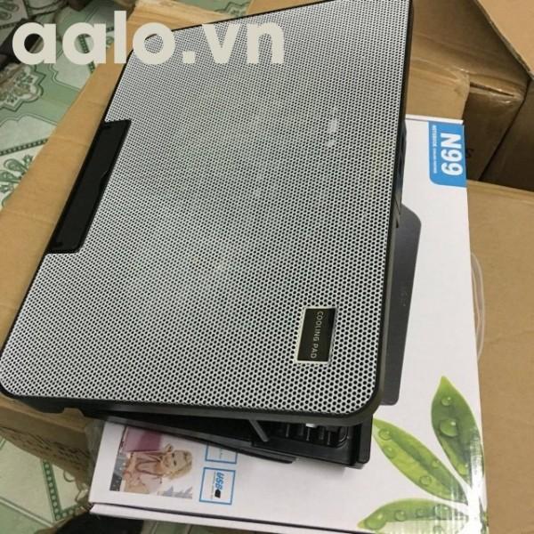 Đế tản nhiệt laptop N99 ( 2 fan to ) có thể nâng lên hạ xuống được