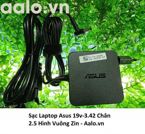 Sạc Laptop Asus 19v-3.42 Chân 2.5 Hình Vuông Zin