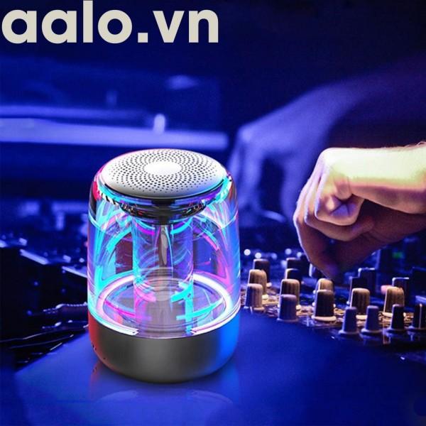 Loa Bluetooth Trên Dưới Trong Suốt Yayusi C7 âm thành vòm 6D âm bass trầm led RGB pin 1000mAh - ADP6868 - aalo.vn