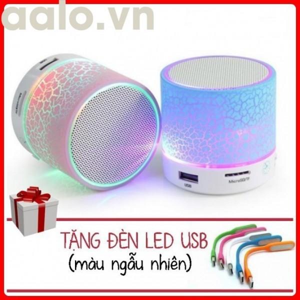 Loa mini A9 bluetooth Có đèn led nháy theo nhạc (Tặng 1 Đèn LED USB Siêu Sáng) - aalo.vn