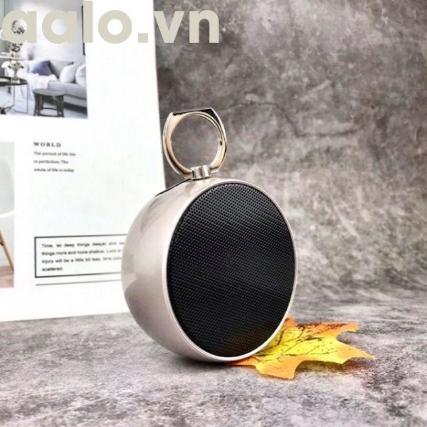 Loa Bluetooth Mini BS-02 Vỏ Kim Loại, Âm Thanh Hay, Có Móc Treo Tiện Lợi (Có Khe Cắm Thẻ Nhớ, Cổng 3.5) - aalo.vn