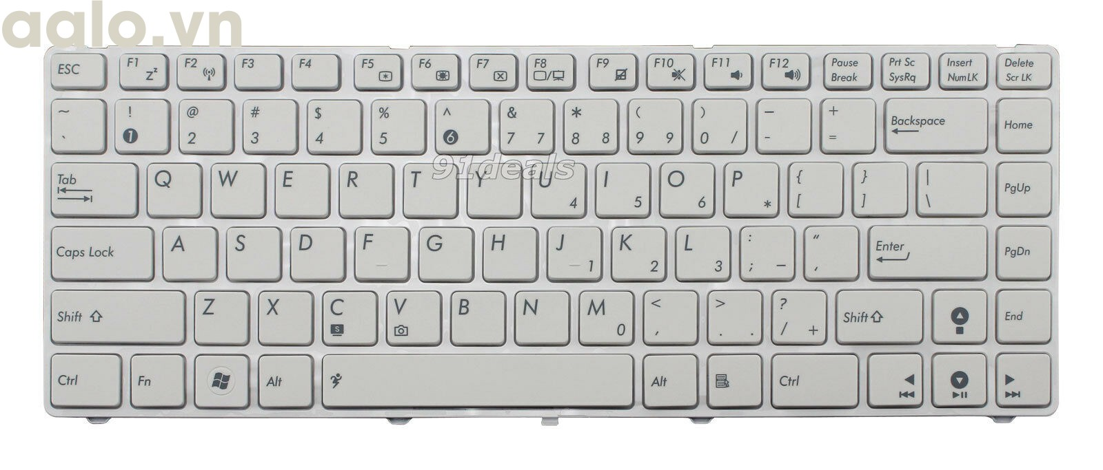 Bàn phím Laptop Asus K42, K42D, K42F, K42N trắng