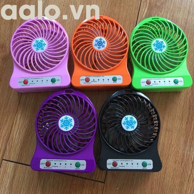 Combo 20 Quạt Sạc 3 Tốc Độ dùng pin sạc siêu mát - aalo.vn