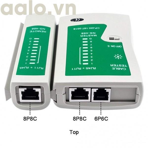 Bộ test mạng RJ45 và RJ11 ( kèm pin loại tốt siêu bền) - aalo.vn