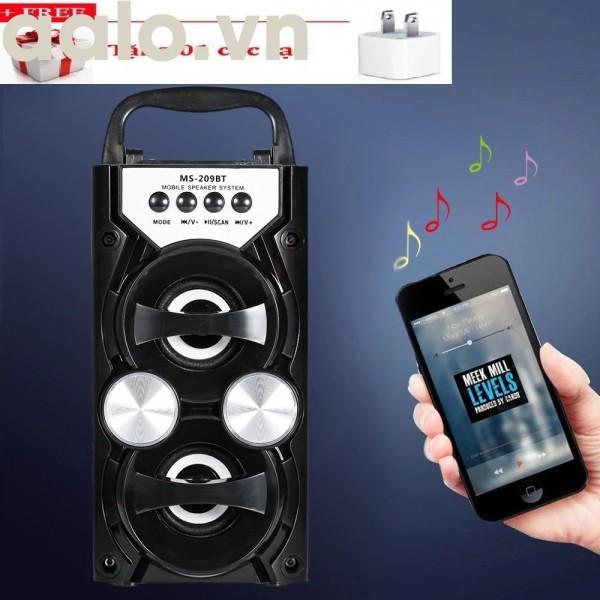 Loa Bluetooth Speaker 205BT/209BT Âm thanh hay chuẩn có đèn led ( tặng kèm củ sạc nhanh) - aalo.vn