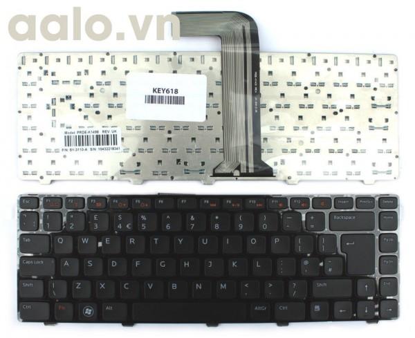 Bàn phím laptop Dell  Inspiron N4110 Black Frame Black UK Layout Replacement  - Keyboad Dell