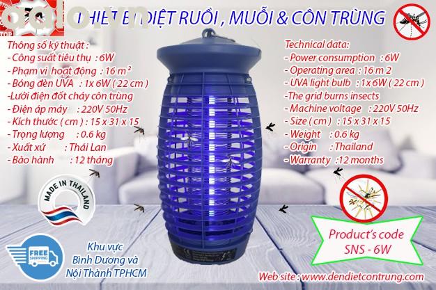 Thiết bị diệt muỗi SNS - 6W, lưới điện