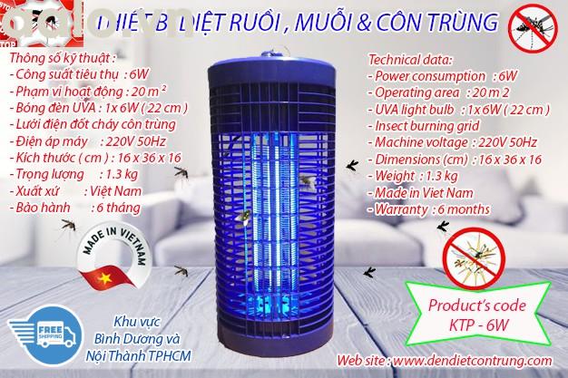 Thiết bị diệt muỗi độc quyền KTP - 6W, lưới điện