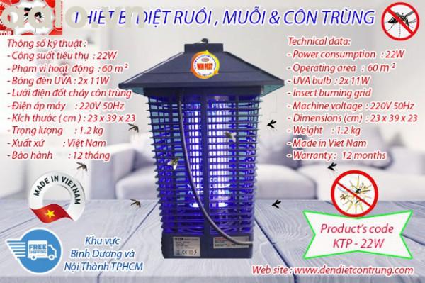 Thiết bị diệt muỗi độc quyền KTP - 22W, lưới điện