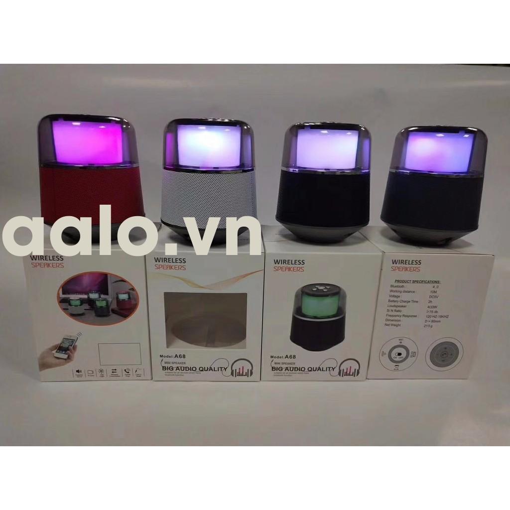Loa Bluetooth Di Động A68 Đèn led đổi màu-aalo.vn