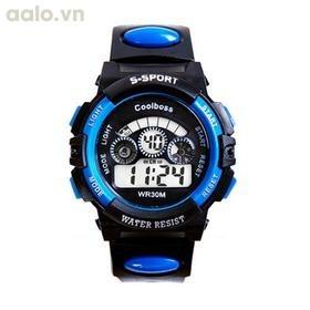 Đồng hồ thể thao chống nước SKMEI 1061 cho bé trai (Đen viền xanh dương)