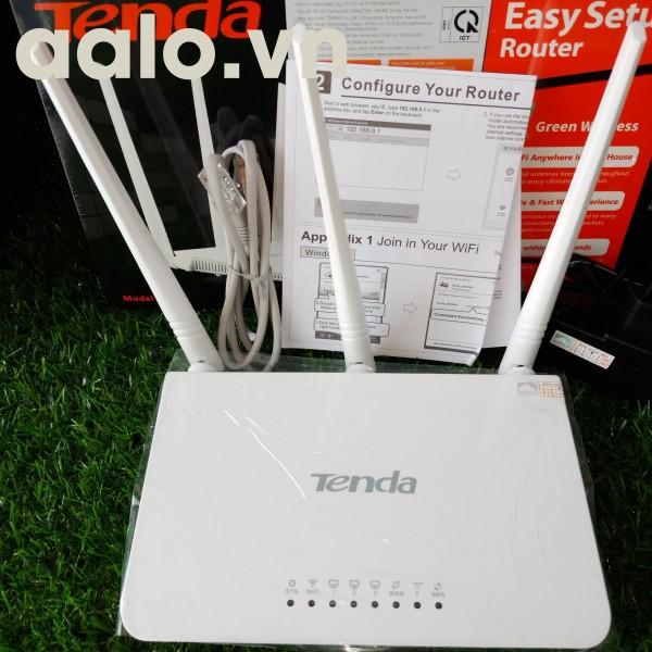 Thiết bị phát sóng WIFI 3 anten tốc độ 300M TENDA F3 Trắng