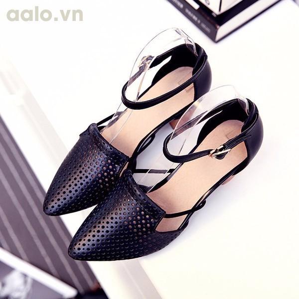 Giày cao gót Laze vân gỗ thời trang - LN371