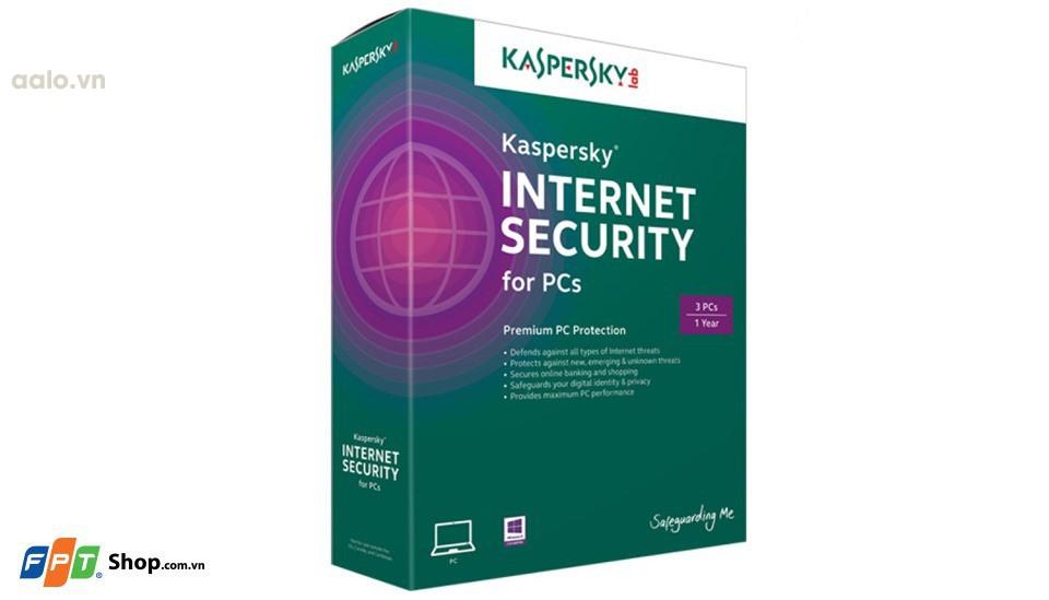 Phần mềm Kaspersky Internet Security (3 máy tính/1 năm)