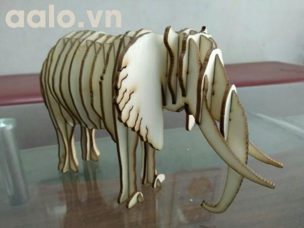 Quà lưu niệm  lắp ráp gỗ 3D mô hình chú voi
