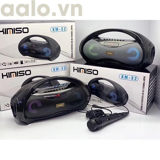Loa Bluetooth Karaoke Xách Tay KM-S2 Tặng Kèm 1 Mic Hát Có Dây, Âm Bass Cực Hay, Đèn Led Sống Động + Bảo hành 6 tháng-aalo.vn