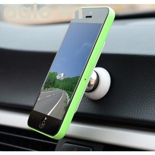 Giá đỡ, kẹp đế hít nam châm điện thoại trên xe hơi, mặt phẳng đa năng 360 độ H76