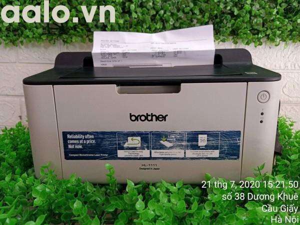 Máy in Brother HL - 1111 ( Hộp mực + Dây nguồn + Dây USB mới ) - aalo.vn
