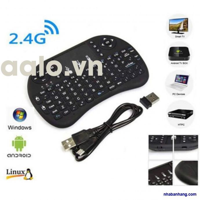 Bàn phím kiêm chuột bay UKB 500 FRO (Có đèn Led) dành cho Android TV box, Smart TV