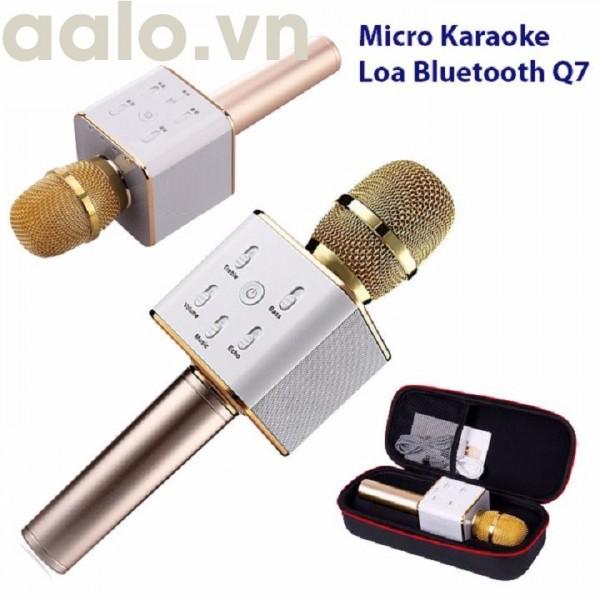 Mic karaoke Q7 tặng kèm 1 Đèn Led USB-aalo.vn