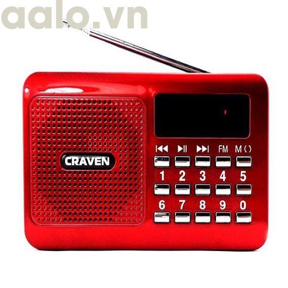 ĐÀI RADIO FM NGHE NHẠC QUA USB VÀ THẺ NHỚ  CRAVEN CR-26