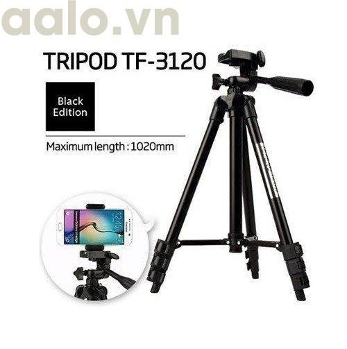Bộ 1 Tripod TF-3120 kèm 1 Kẹp điện thoại và 1 Remote (Tặng Giá Đỡ Bạch Tuộc Đa Năng)