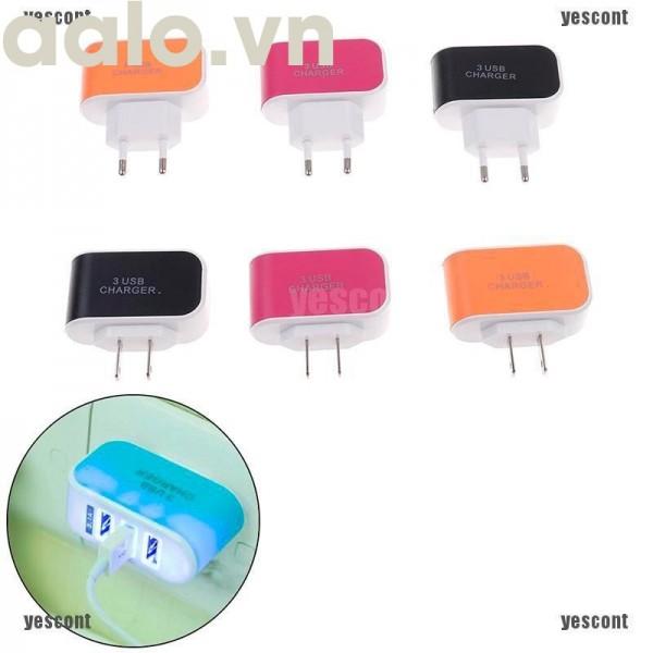 CỐC SẠC 3 CỔNG USB THẾ HỆ MỚI PA01-219-aalo.vn