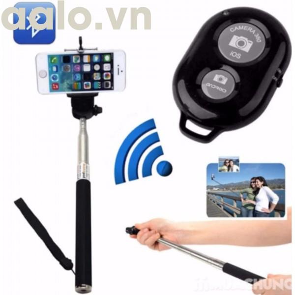 Combo 100 Remote chụp ảnh cho điện thoại Bluetooth Shutter (Màu Đen)-aalo.vn