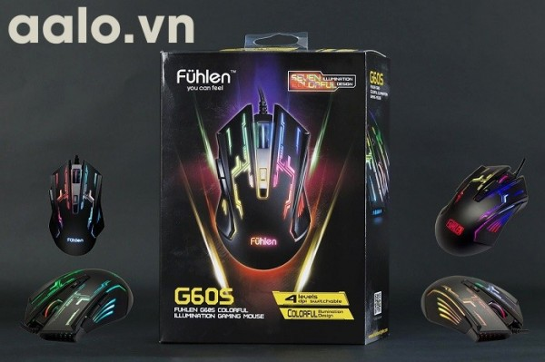 Chuột có dây Fuhlen G60S Optical USB (Đen) (đổi 7 màu)