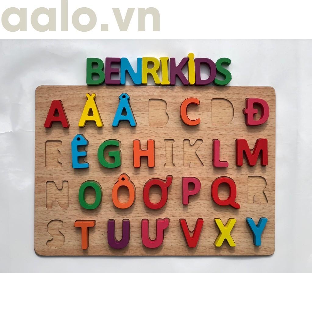 Combo bộ 3 món Bảng Chữ Cái Tiếng Việt Bằng Gỗ, Bảng Chữ Số, Bảng Hình khối - aalo.vn