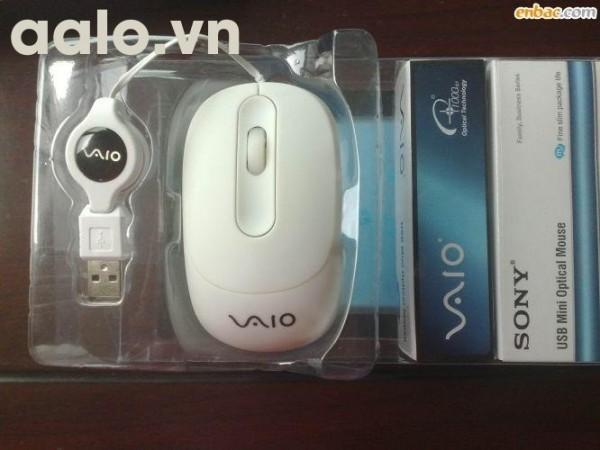 Chuột máy tính VAIO dây rút cắm USB